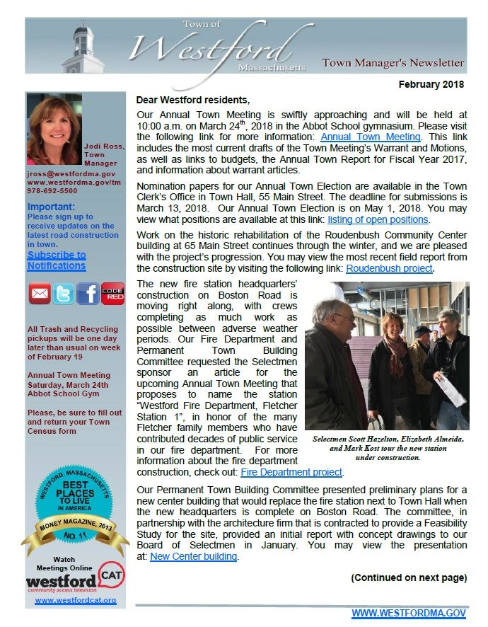 TM Newsletter February 2018 front page