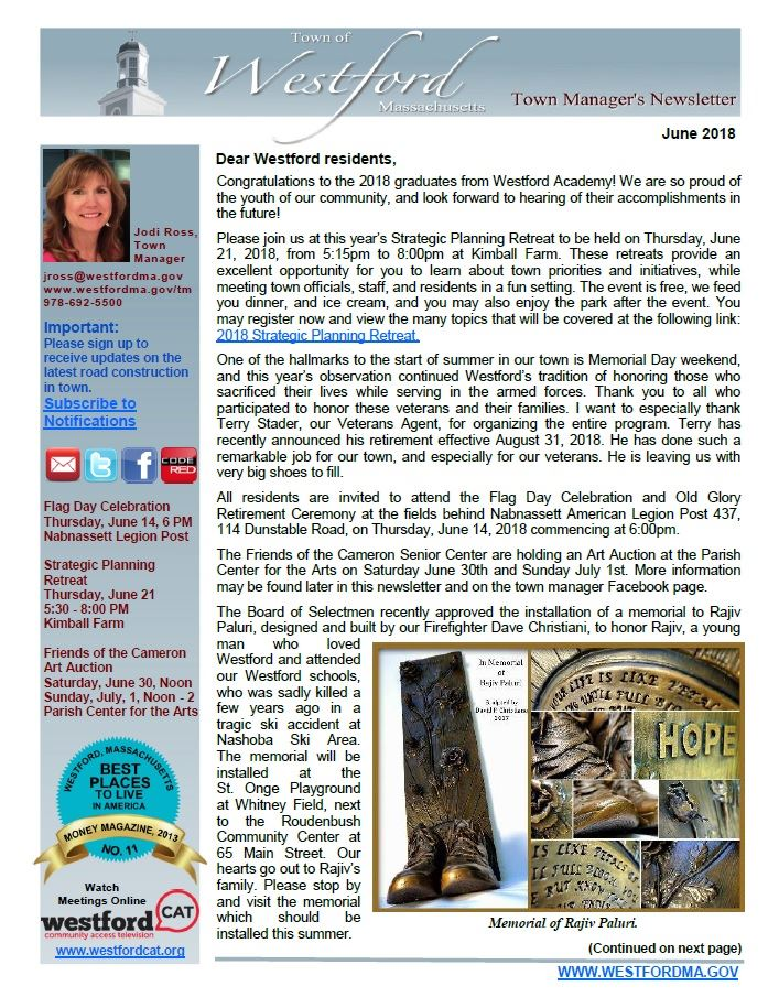 TM Newsletter June 2018 front page