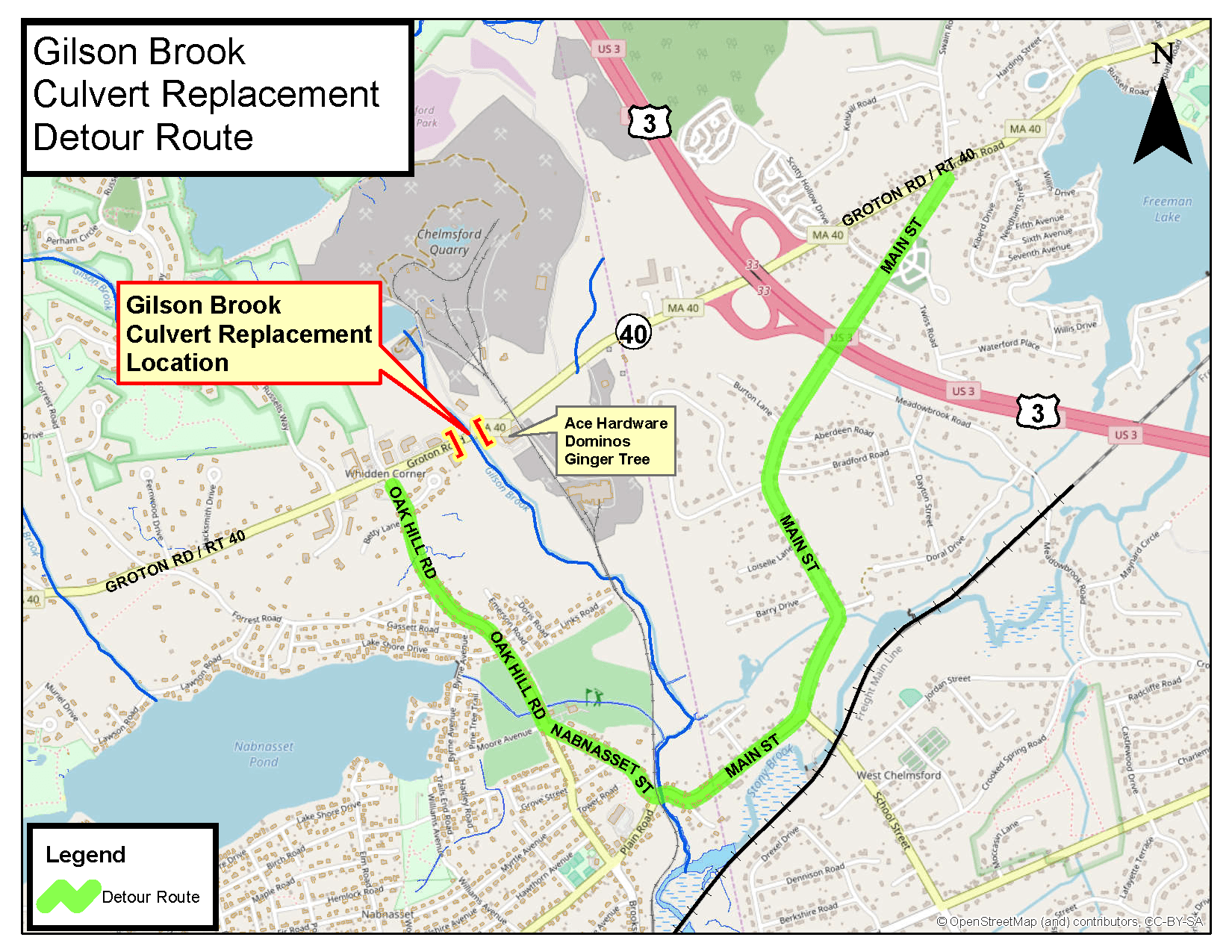 Gilson Brook Rt40 Detour