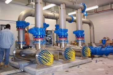 Large Water Treatment Pipes