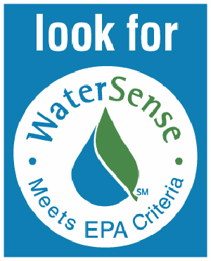 Look for EPA WaterSense Logo