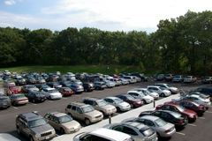 Full View of Parking Lot
