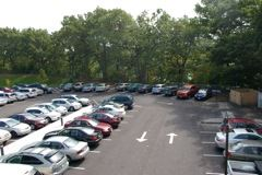 Right Side of Full Parking Lot