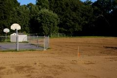 Field with Basketball Court Area