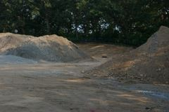 Work Field Area and Dirt Mounds