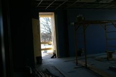 Looking Out to New Porch from Fitness Room